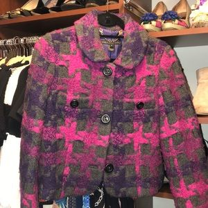 Marc By Marc Jacobs Wool Fitted Blazer/Coat